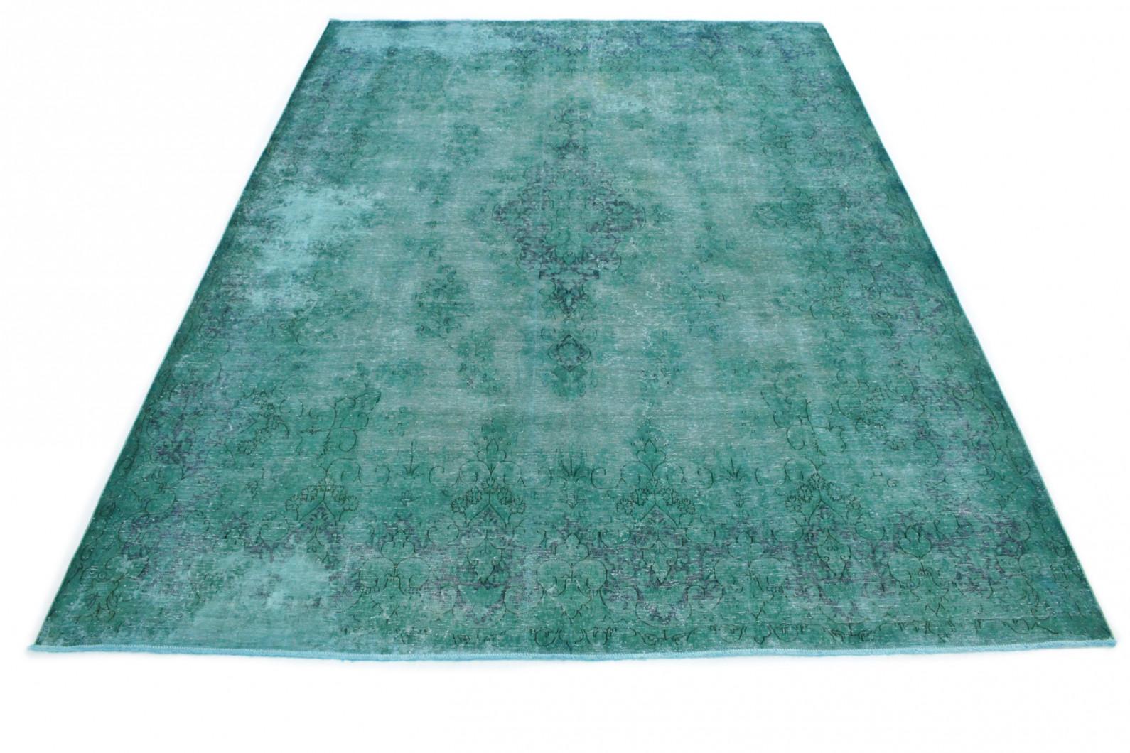 Vintage Teppich Türkis in 420x300