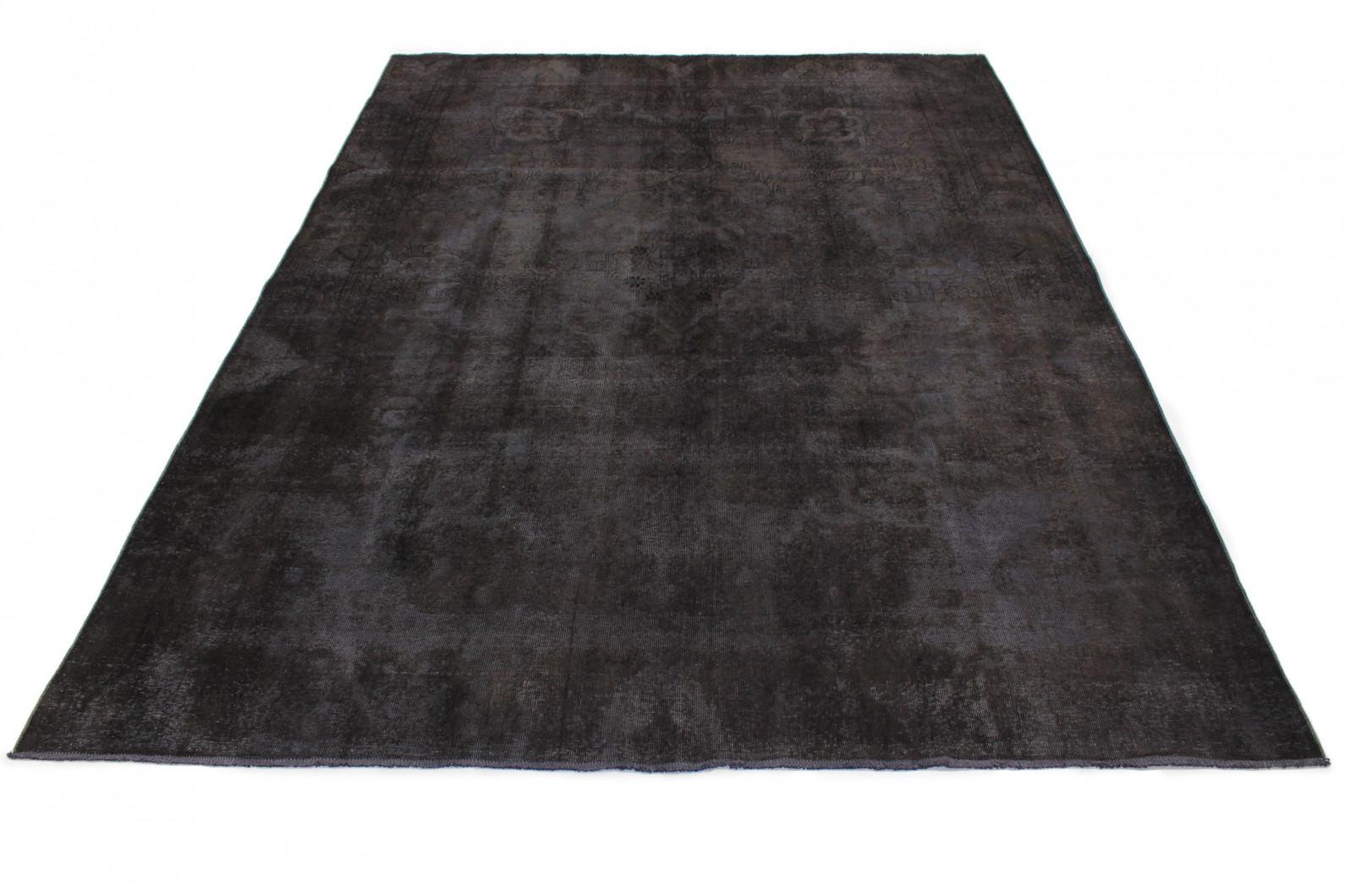 Vintage Teppich Schwarz in 390x290