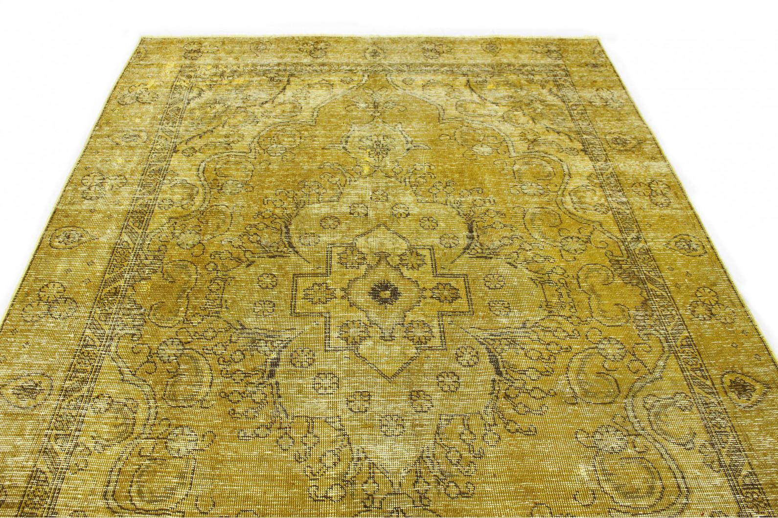 vintage teppich gelb gold in 300x200 1001 167184 bei. Black Bedroom Furniture Sets. Home Design Ideas