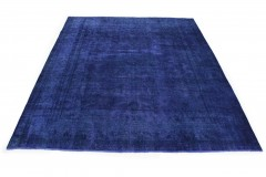 Vintage Teppich Ultramarinblau Blau in 390x290