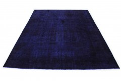 Vintage Teppich Ultramarinblau Blau Lila in 430x310