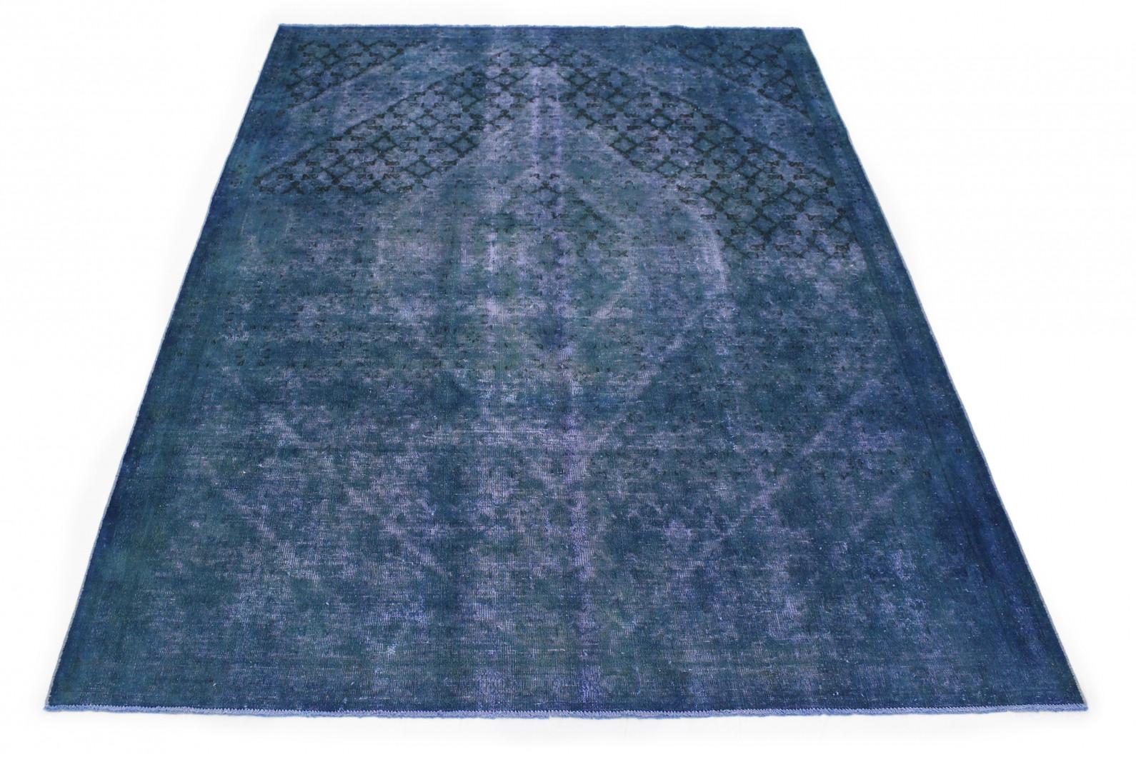 Vintage Teppich Blau in 330x220