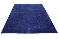 Vintage Teppich Ultramarinblau Blau Lila in 370x270
