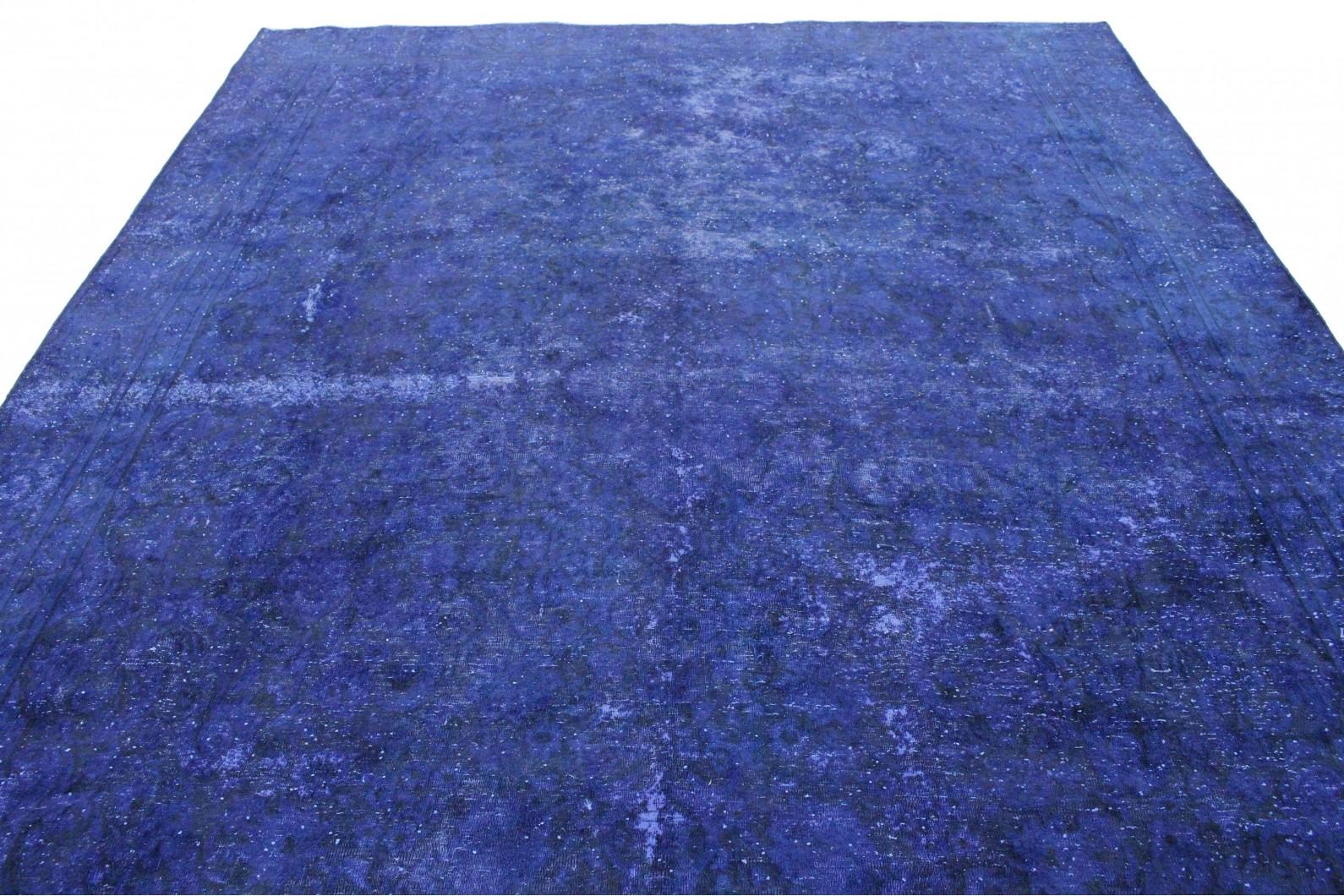 vintage teppich ultramarinblau blau lila in 370x270 1001 167209 bei kaufen. Black Bedroom Furniture Sets. Home Design Ideas