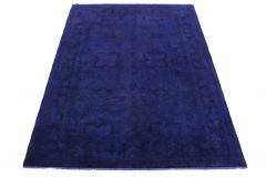 Vintage Teppich Ultramarinblau Blau Lila in 310x210