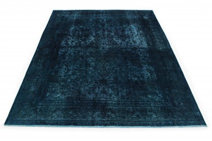 Vintage Teppich Blau in 370x280