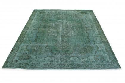Vintage Teppich Grün Türkis in 380x300
