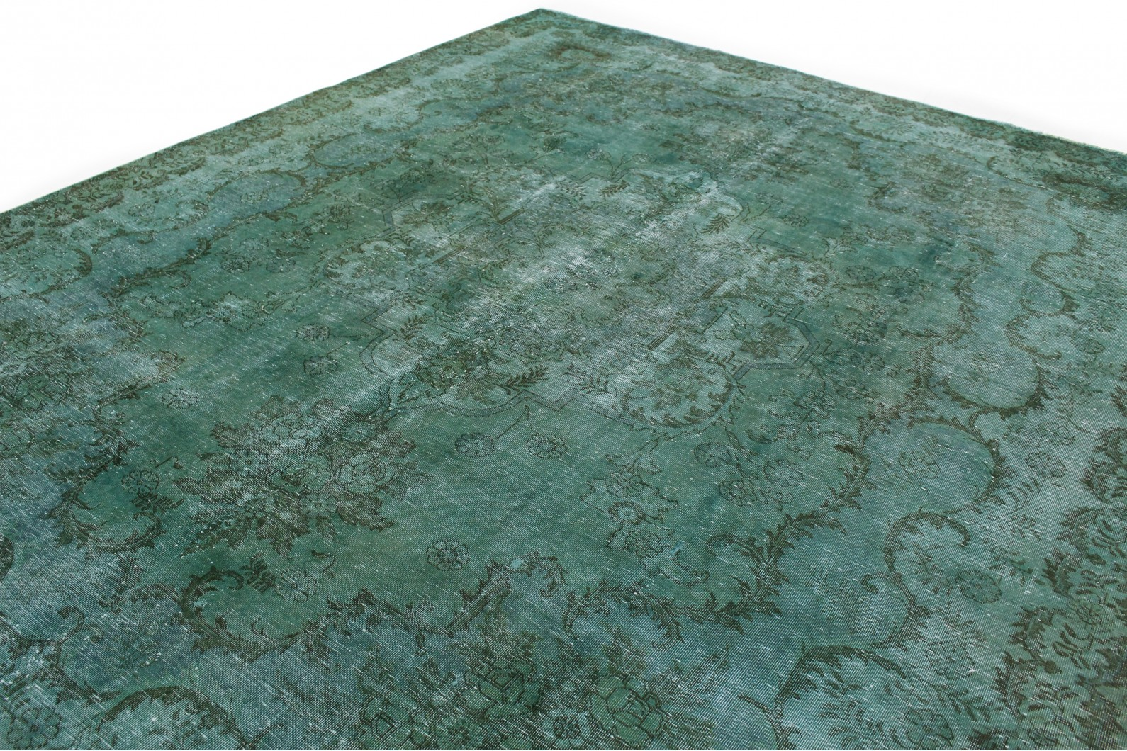 vintage teppich gr n t rkis in 380x300 1001 167221 bei kaufen. Black Bedroom Furniture Sets. Home Design Ideas