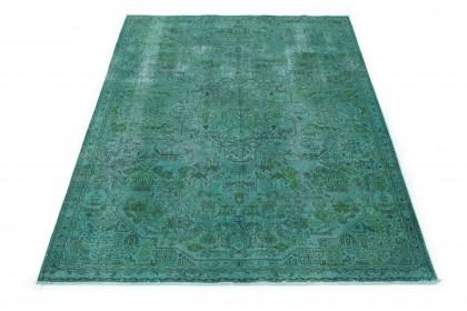 Vintage Teppich Türkis Grün in 280x190
