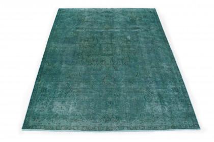 Vintage Teppich Grün in 300x220