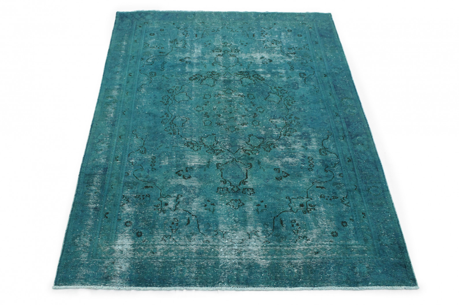 vintage teppich t rkis in 270x180 1001 167238 bei. Black Bedroom Furniture Sets. Home Design Ideas
