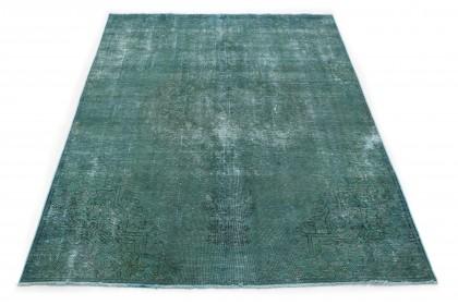 Vintage Teppich Grün in 330x230