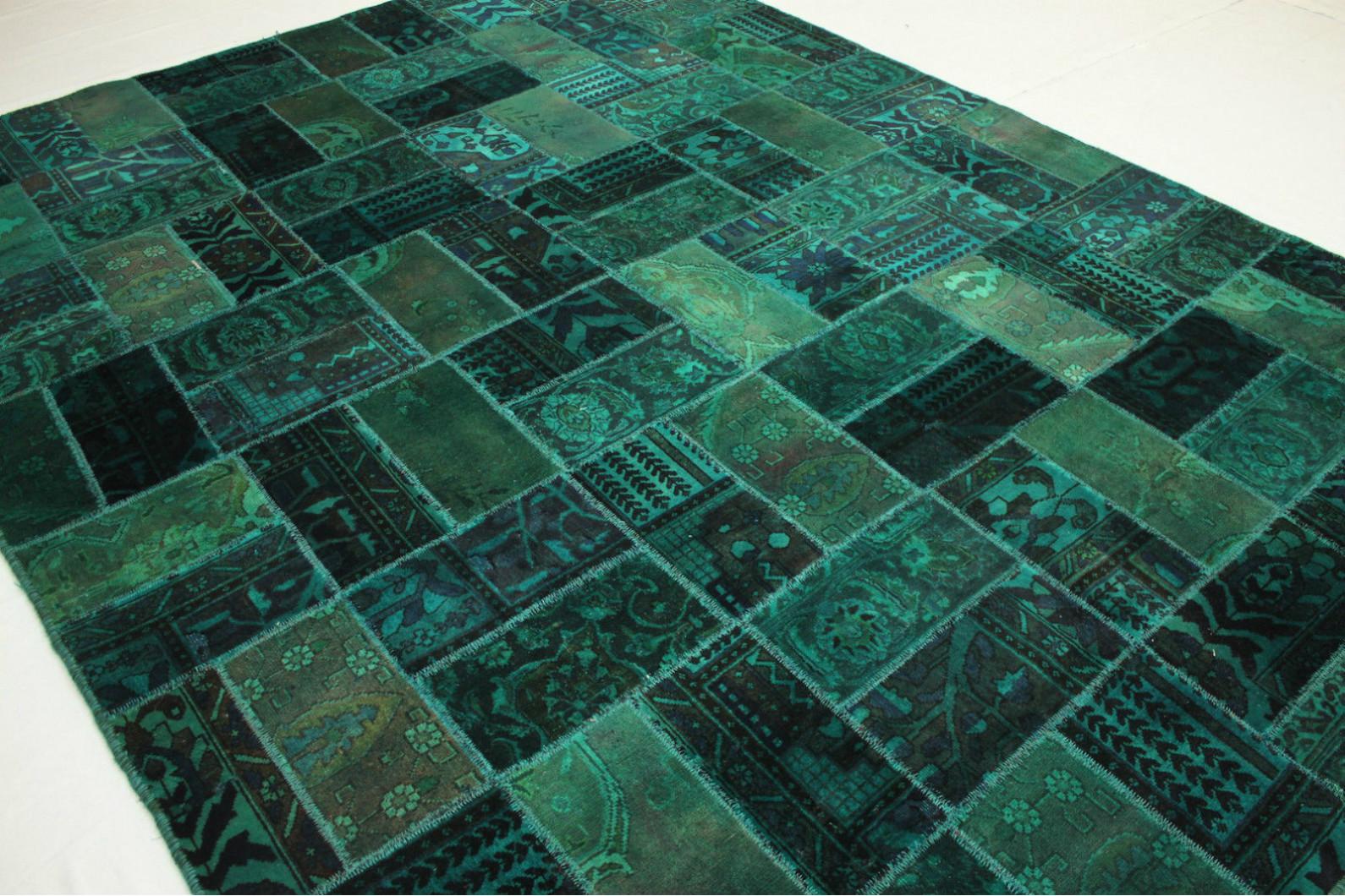patchwork teppich gr n t rkis in 320x240cm 1001 1677 bei kaufen. Black Bedroom Furniture Sets. Home Design Ideas