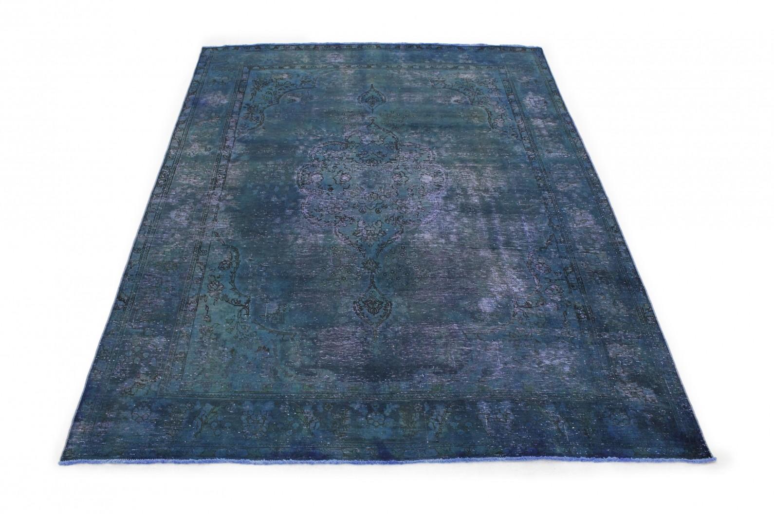 vintage teppich blau in 340x250 1001 177251 bei kaufen. Black Bedroom Furniture Sets. Home Design Ideas