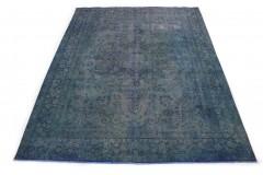 Vintage Teppich Blau in 380x290