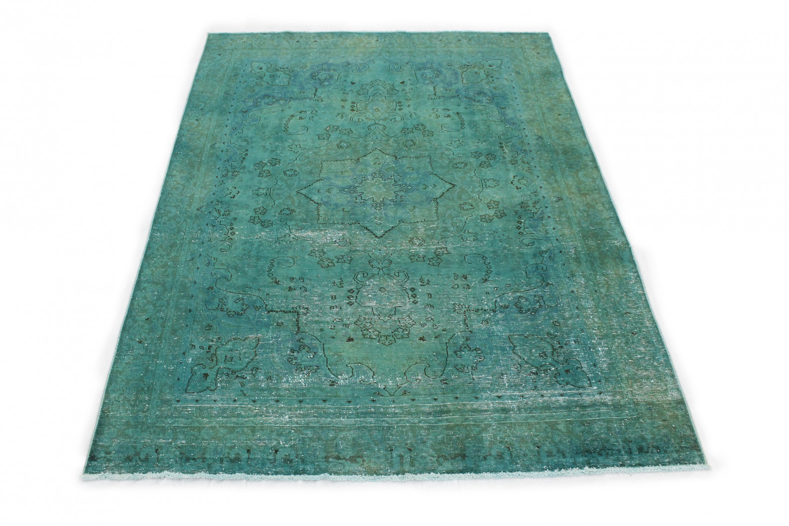 Vintage Teppich Türkis in 310x220