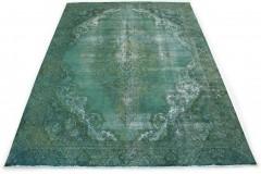 Vintage Teppich Grün in 380x280