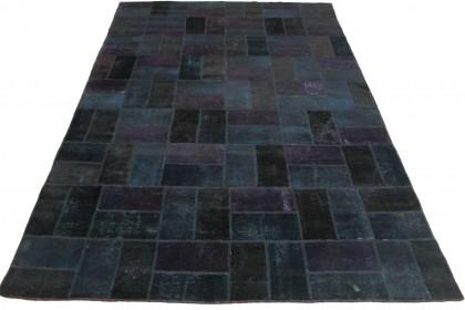 Patchwork Teppich Lila Blau in 370x240cm
