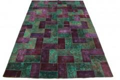 Patchwork Teppich Türkis Violett in 360x240cm
