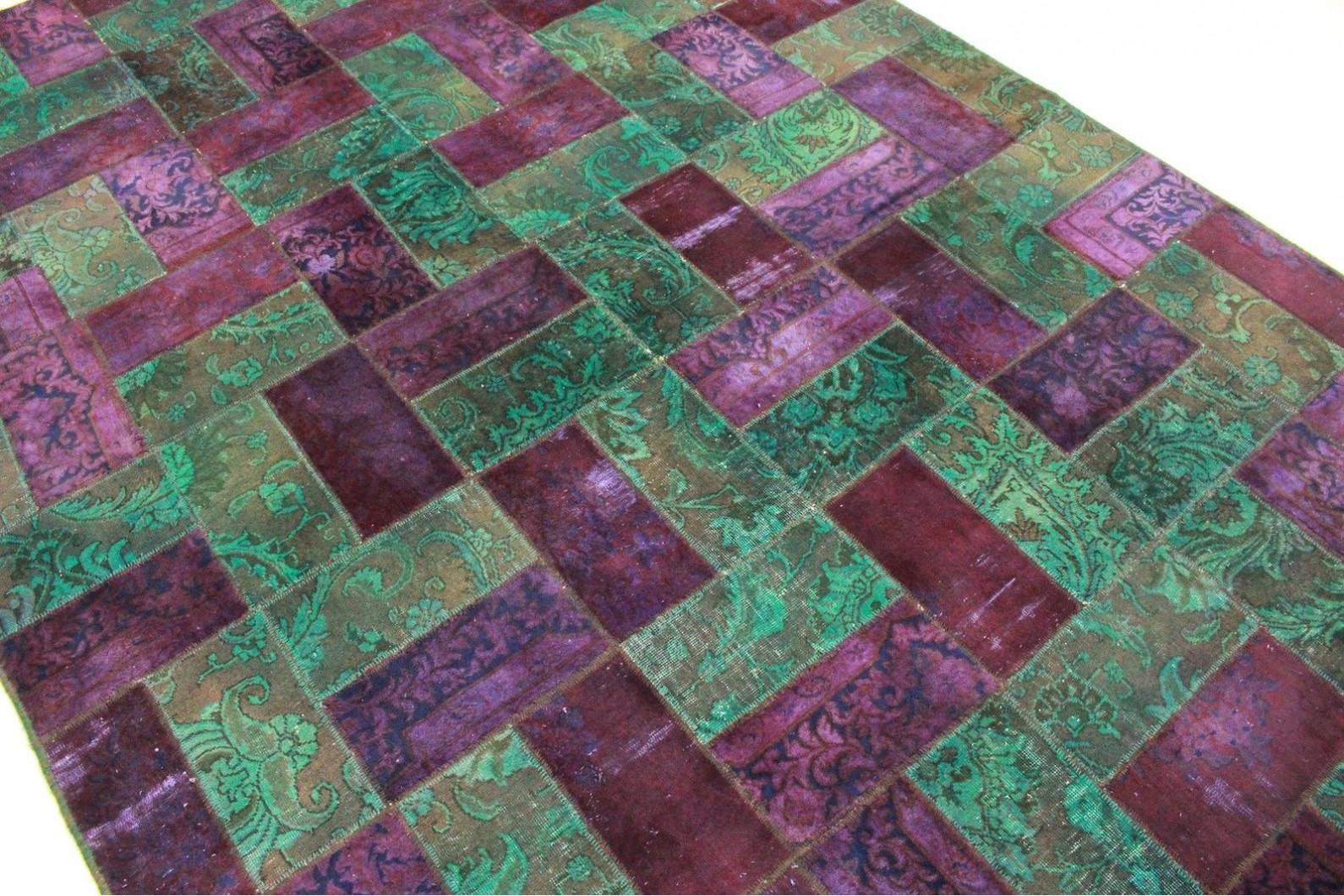 teppich violett latest vintage teppich lila in xcm with teppich violett patchwork teppich lila. Black Bedroom Furniture Sets. Home Design Ideas