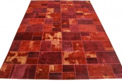 Patchwork Teppich Rot in 400x300cm