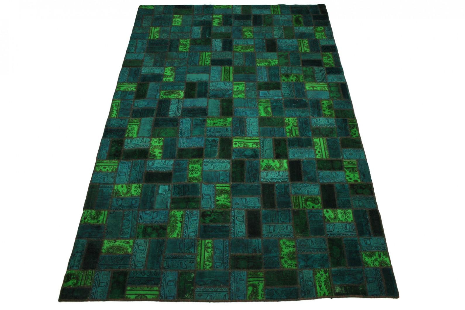 patchwork teppich t rkis in 310x200cm 1001 1854 bei kaufen. Black Bedroom Furniture Sets. Home Design Ideas