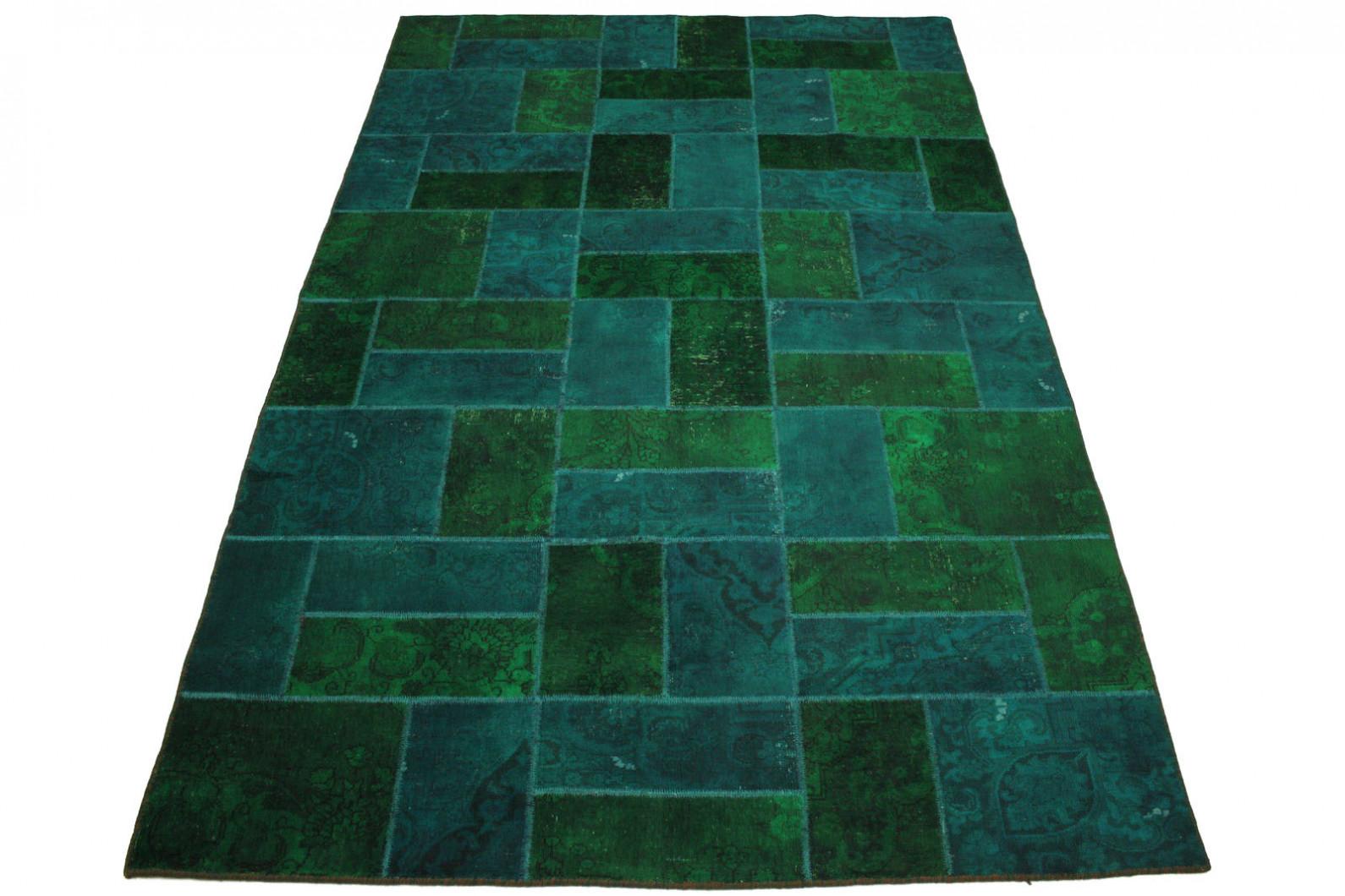 Patchwork teppich grün türkis in 310x200cm (1001 1856) bei ...