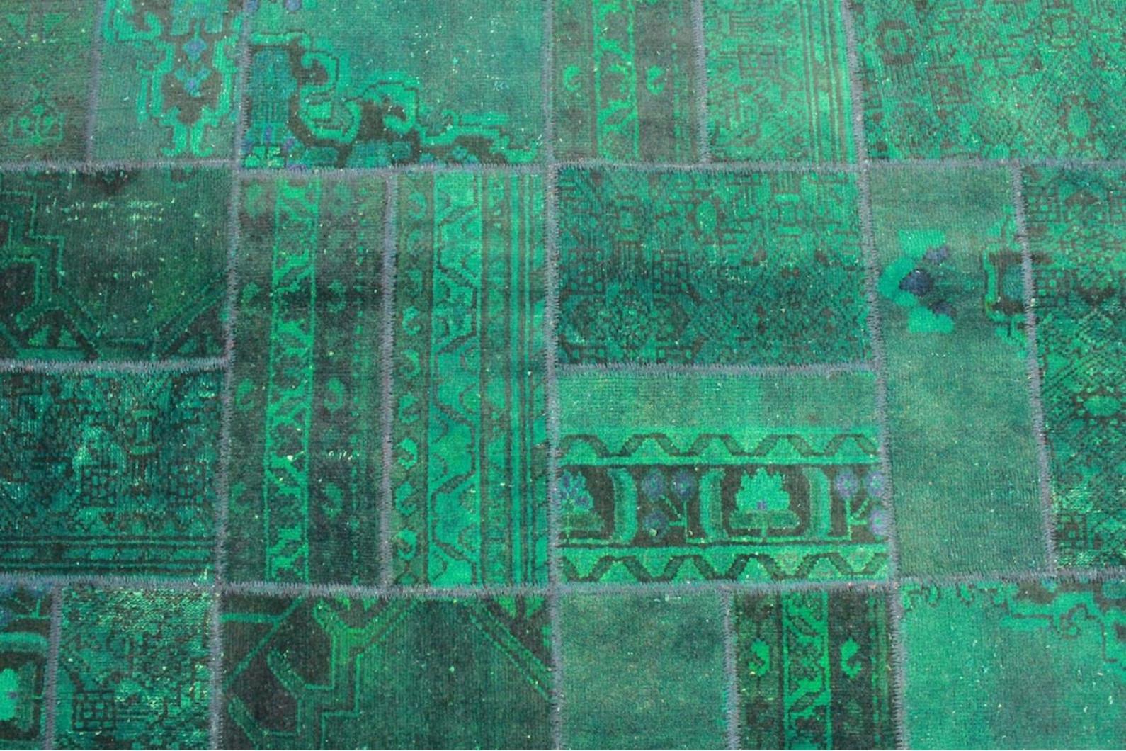 patchwork teppich gr n t rkis in 310x190cm 1001 1861 bei kaufen. Black Bedroom Furniture Sets. Home Design Ideas