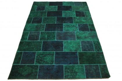 Patchwork Teppich Blau Türkis in 300x200cm