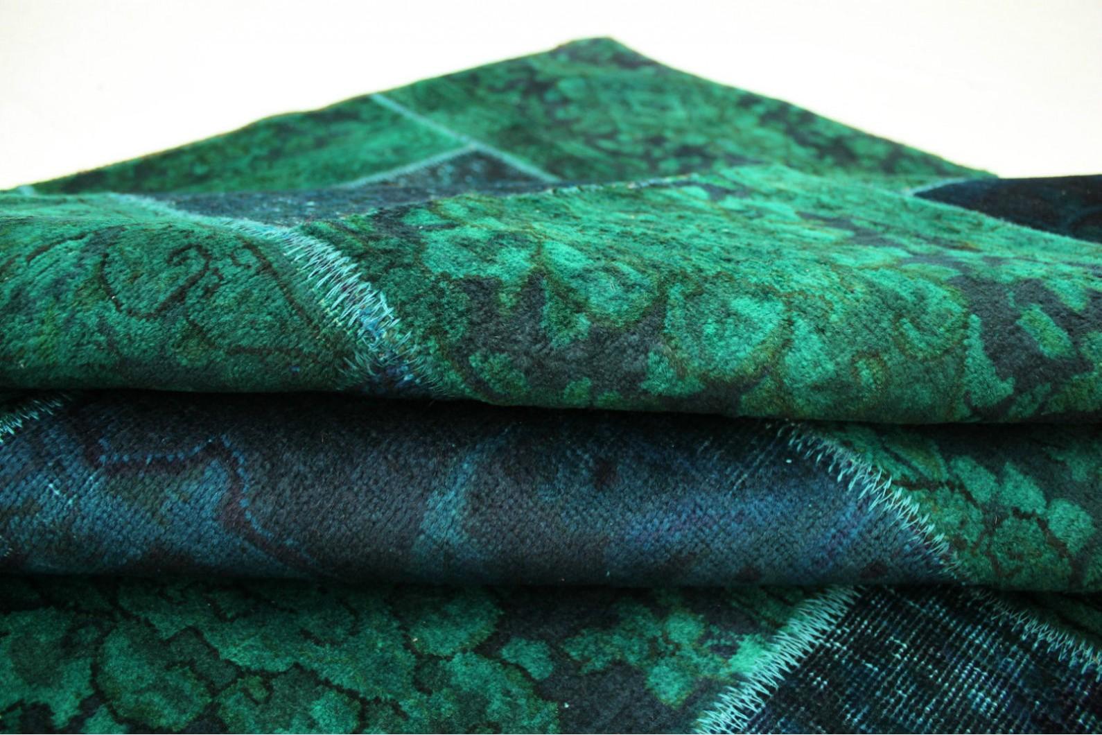 patchwork teppich blau t rkis in 300x200cm 1001 1868 bei kaufen. Black Bedroom Furniture Sets. Home Design Ideas