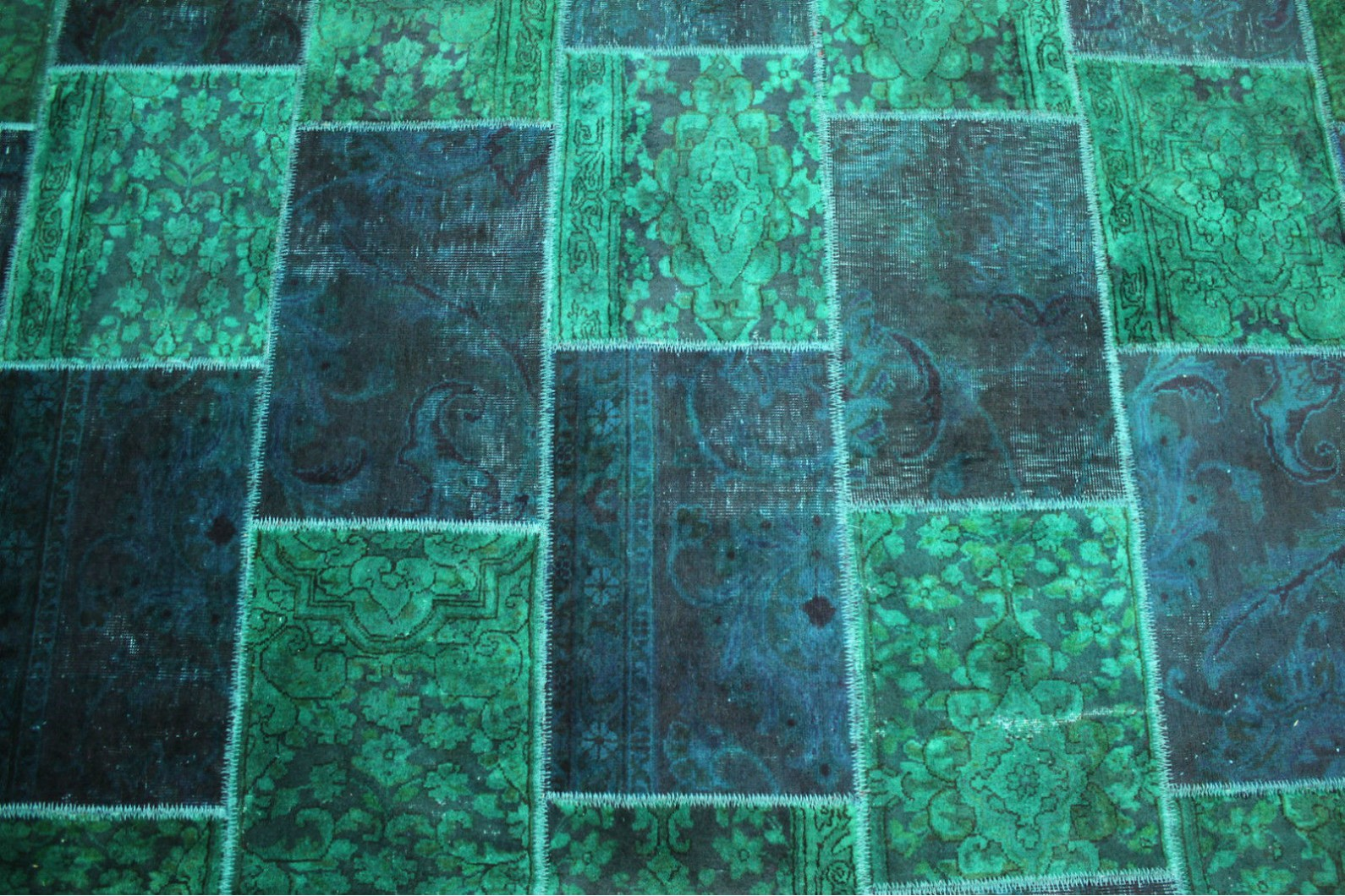 patchwork teppich blau t rkis in 300x200cm 1001 1868 bei. Black Bedroom Furniture Sets. Home Design Ideas