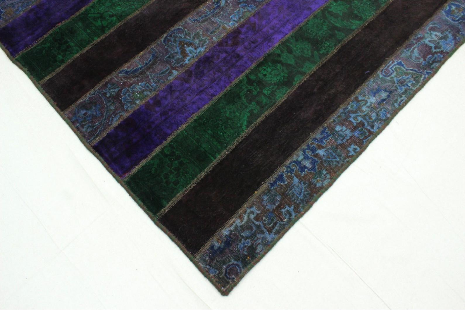 Lila teppich  Patchwork Teppich Grün Lila in 310x200cm (1001-1885) bei carpetido ...