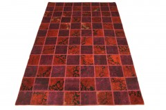Patchwork Teppich Rot in 300x200cm