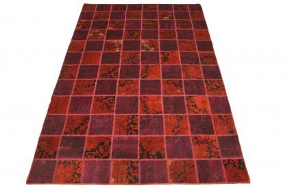 Patchwork Teppich Rot in 300x200cm