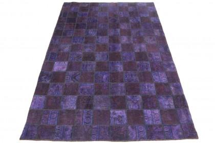 Patchwork Teppich Lila in 310x200cm