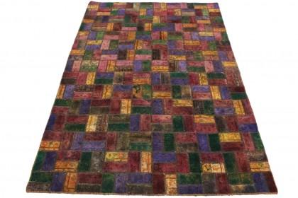 Patchwork Teppich Lila Pink in 310x200cm