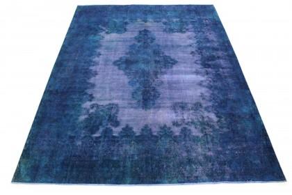 Vintage Teppich Blau Lila in 390x300