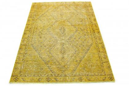 Vintage Teppich Gelb in 190x140