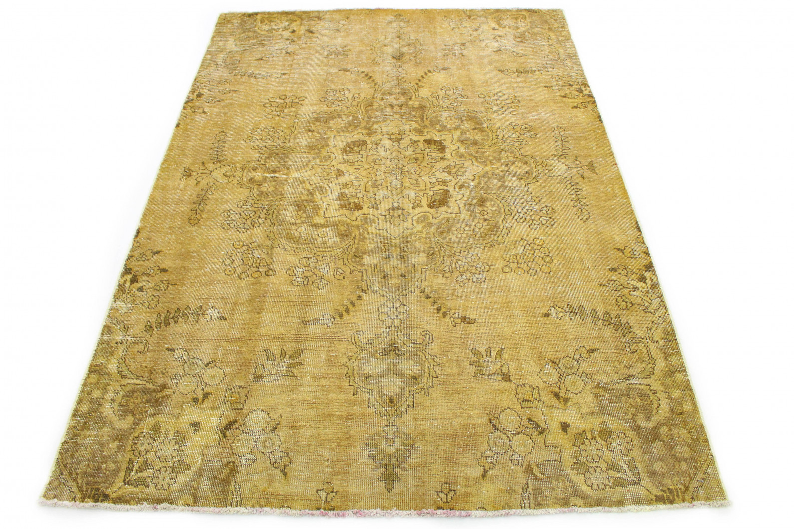 Vintage Teppich Gelb Beige in 240x170 (1 / 6)