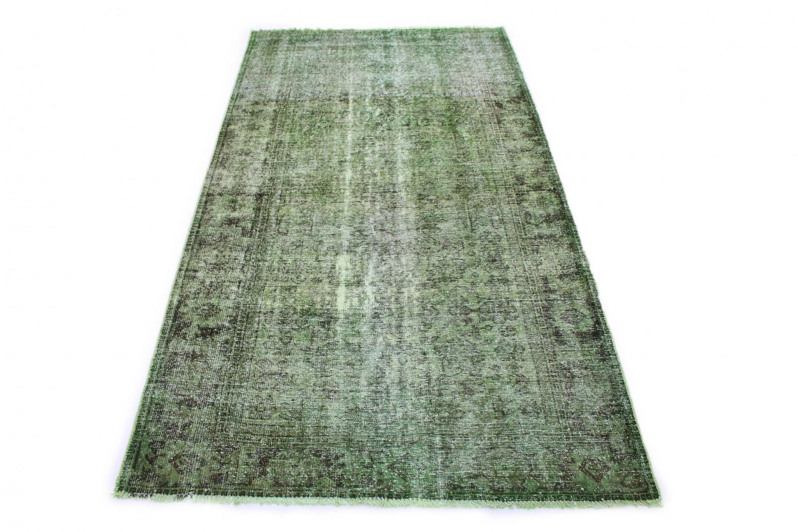 Vintage Teppich Grün in 240x130 (1 / 5)