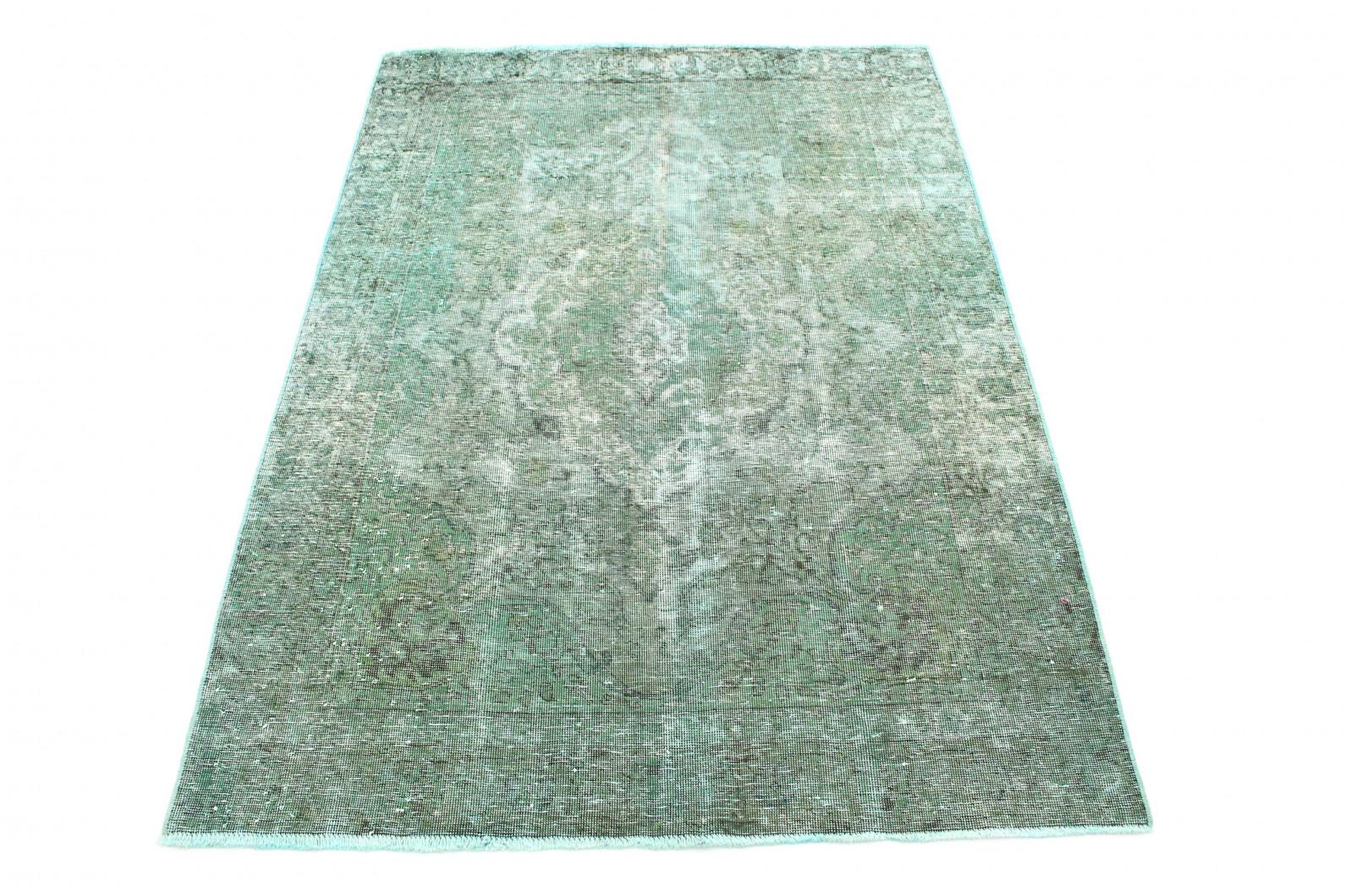 Vintage Teppich Türkis Grau in 190x130 (1 / 6)