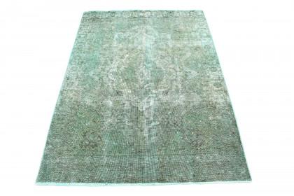 Vintage Teppich Türkis Grau in 190x130