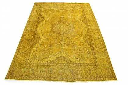 Vintage Teppich Gelb Gold in 330x240