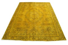 Vintage Rug Gold Yellow in 380x280