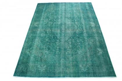 Vintage Teppich Türkis in 350x260