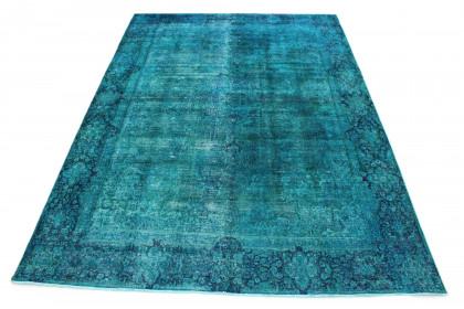 Vintage Teppich Türkis in 390x280