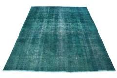Vintage Teppich Türkis in 370x310