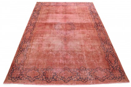 Vintage Teppich Rot Rosa in 420x290