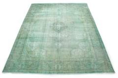 Vintage Teppich Grün Türkis in 390x310