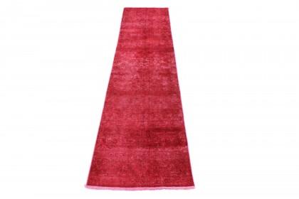 Vintage Teppich Läufer Rot in 300x70